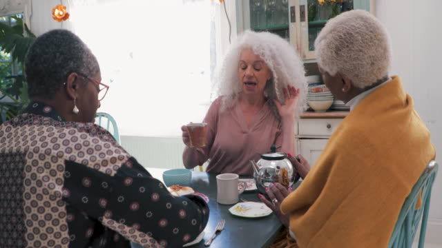 tea time - 60 69 anni video stock e b–roll