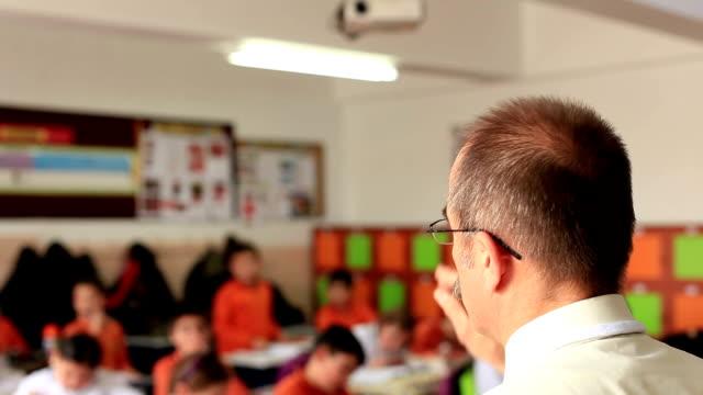 lehrer und der klasse - grundschullehrer stock-videos und b-roll-filmmaterial