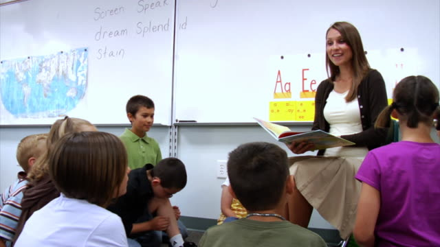 Teacher reading to students video