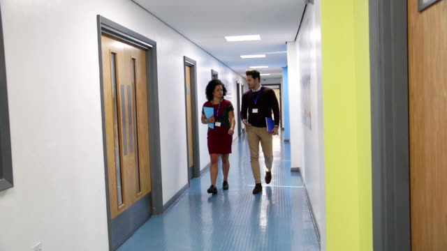 Teachers In The Corridor video