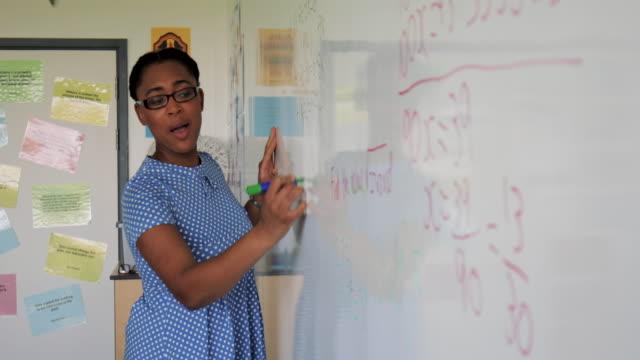 数学のレッスンを教える - 数学の授業点の映像素材/bロール