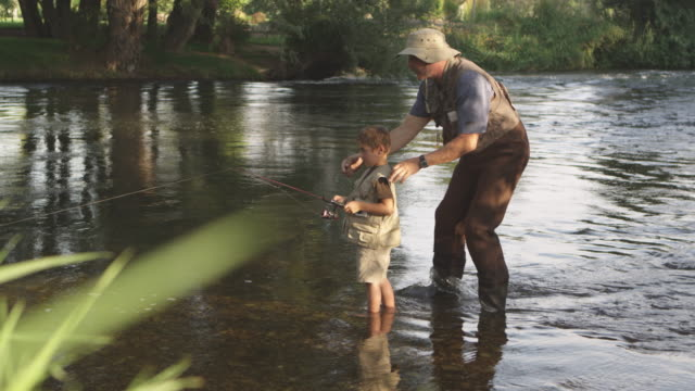 Teaching grandson to fish video