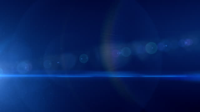 Teal light lens flare
