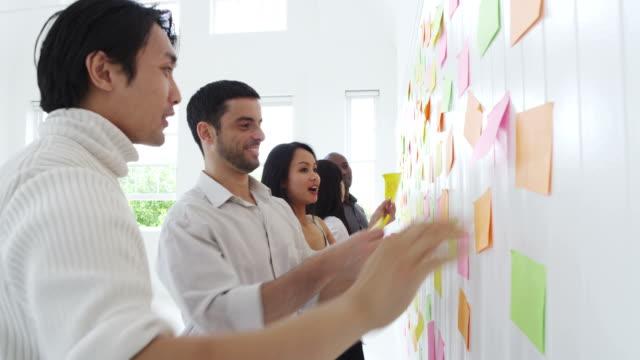 brainstorming d'équipe des idées et des concepts - Vidéo