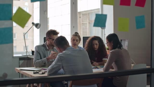 Team Brainstorming in Meeting video