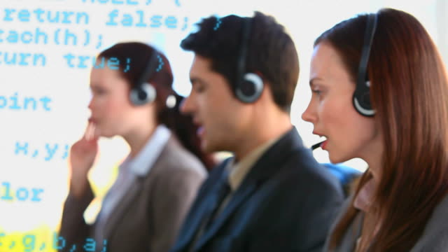A team of call centre agents