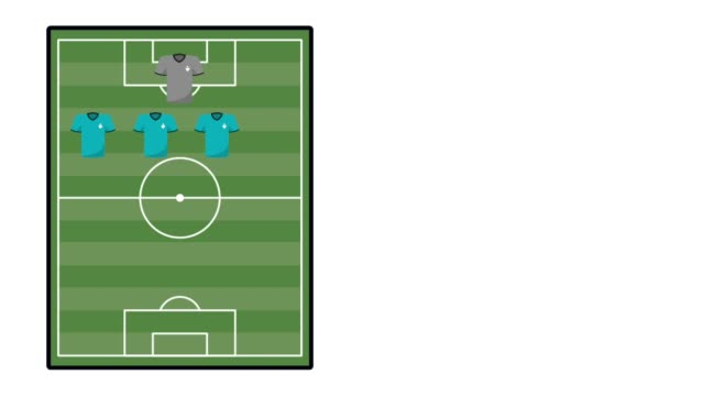 team soccer aligment animation video