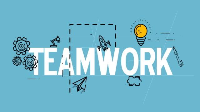 Team work strategy process planning organization concept