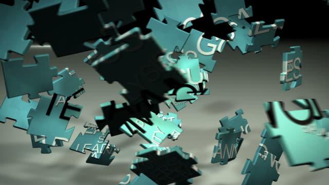 stockvideo's en b-roll-footage met teamwork 3d puzzle business aniamation hd - legpuzzel
