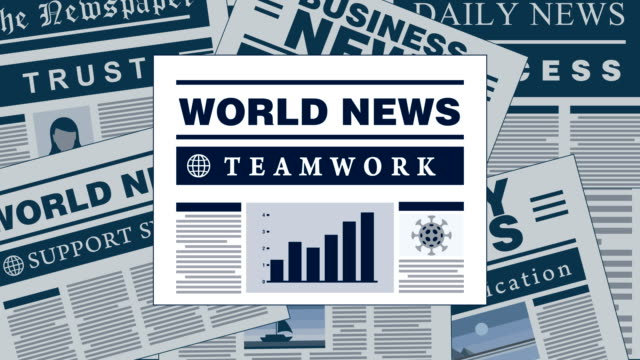 Teamwork Breaking News Newspaper Headlines