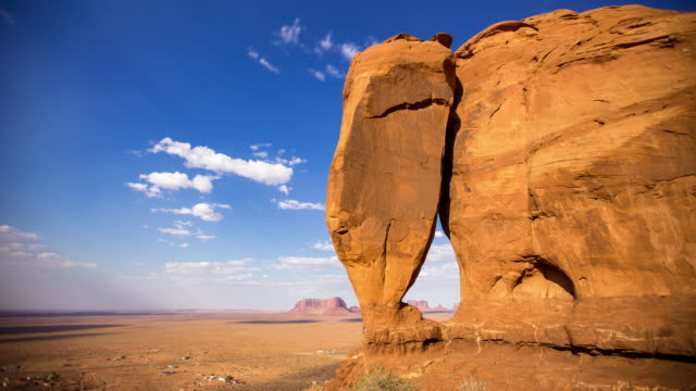 Teardrop Arch, Monument Valley - Time Lapse