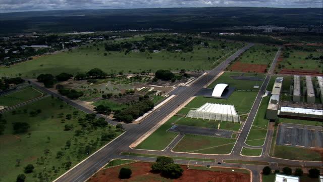 Teatro Pedro Calmon-Vista aérea-Distrito Federal, Brasília, Brasil - vídeo