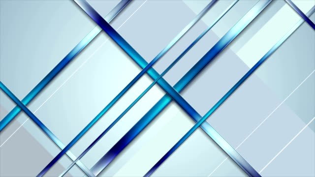 Tech abstract light blue stripes video animation video