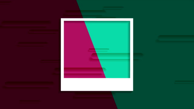 Tech abstract video animation with photo frame Tech multicolored abstract motion design with photo frame. Polaroid style imitation. Seamless looping video animation Ultra HD 4K 3840x2160 polaroid frame stock videos & royalty-free footage