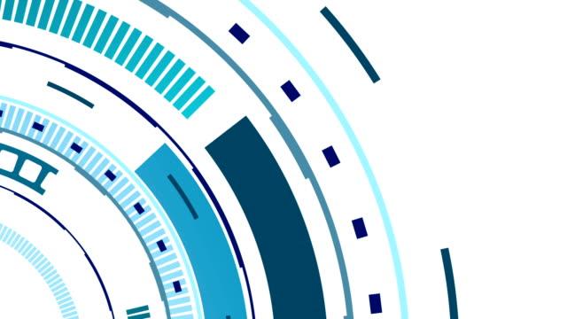 Tech blue HUD gear video animation video