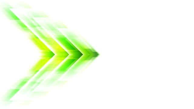 Tech green arrow motion effect video animation video