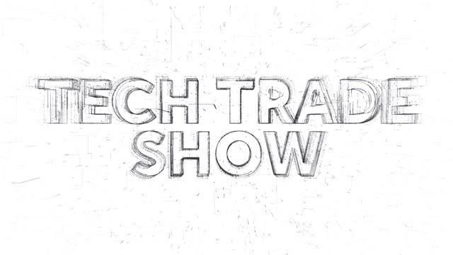 Tech Trade Show words animation - vídeo