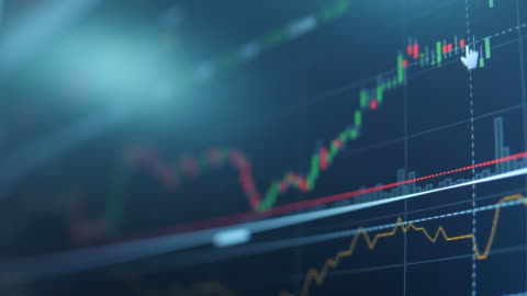 Technical Financial analysts see graphs stock chart stock videos & royalty-free footage
