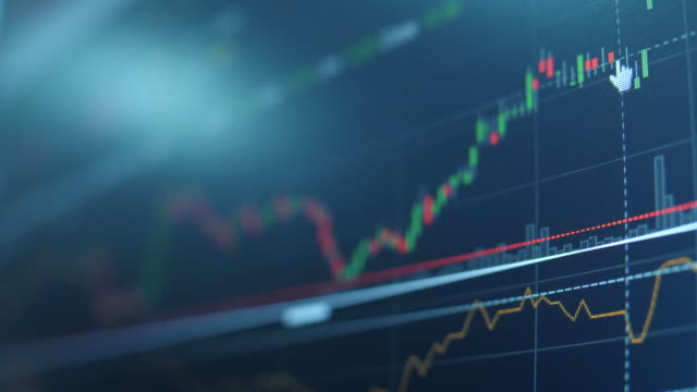 technische analysten sehen graphen - börsenhandel finanzberuf stock-videos und b-roll-filmmaterial