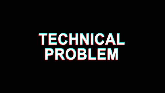 technical problem glitch effect text digital tv distortion 4k loop animation - call center стоковые видео и кадры b-roll