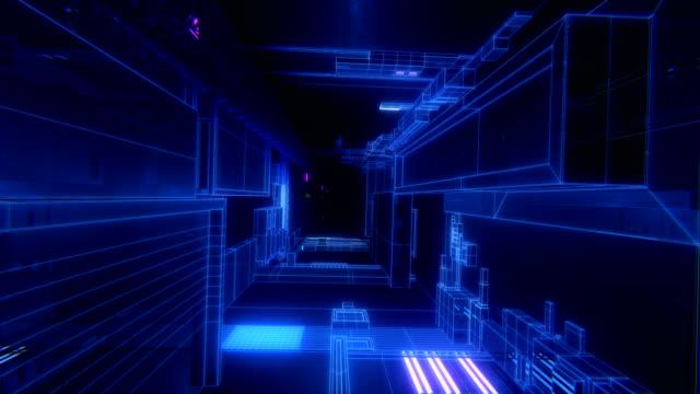 vídeos de stock, filmes e b-roll de techno túnel vj loop - dance music