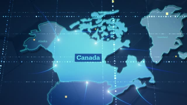 Video Technologic Earth connection to Canada - 4K