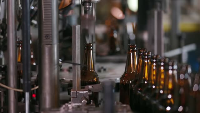 Technological line for bottling of beer in brewery video