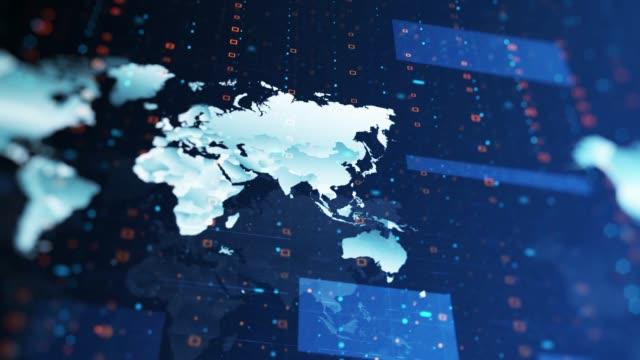 tło mapy technologicznej 4k - media filmów i materiałów b-roll