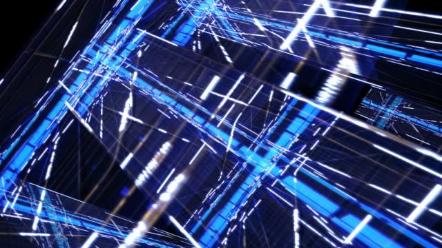 Technologische wolkenkrabber City Network abstract. video