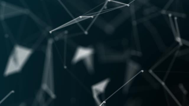 技術。神経叢の接続ワイヤ フレーム web 抽象的な背景。シームレスなループします。 - 鎖の輪点の映像素材/bロール