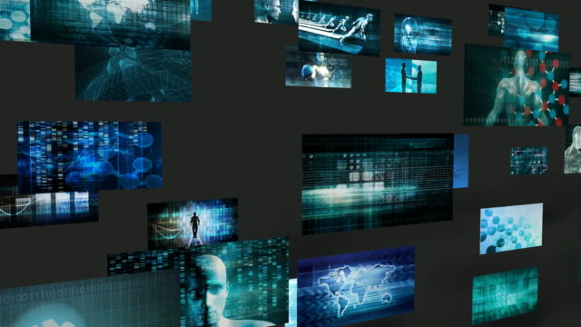 Technology Abstract as a Corporate Innovation Background video