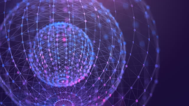 Technology abstract Background loopable animation,Global Data futuristic digital design,Global communication network concept