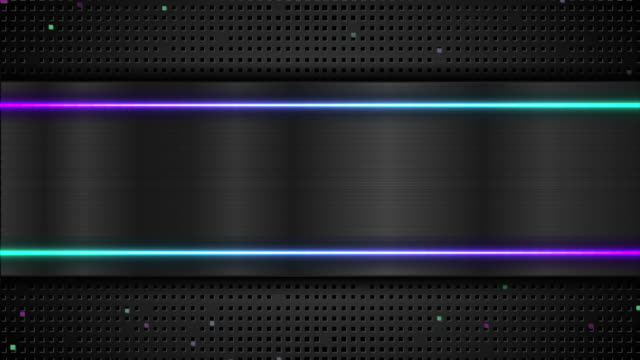 Technology abstract black metallic motion background with neon shiny light