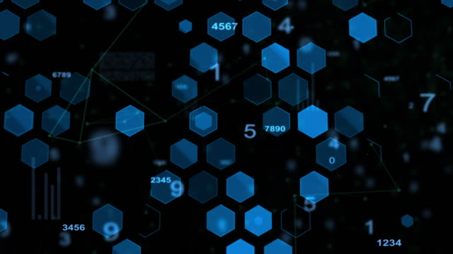 Technology concept,abstract blue background video