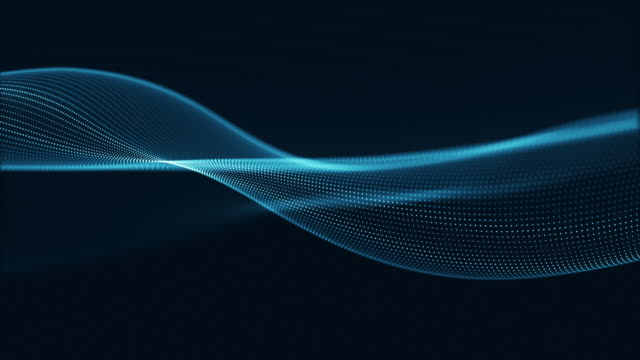Technology digital wave background concept. Technology digital wave background concept.Beautiful motion waving dots texture with glowing defocused particles. Cyber or technology background. wave pattern stock videos & royalty-free footage