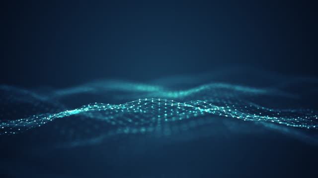 technologie digitales wellenhintergrundkonzept. - sound wave stock-videos und b-roll-filmmaterial