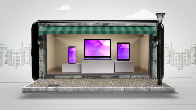 Technology Equipment Online Shopping - Chroma Key - Alpha Channel - 4K Resolution