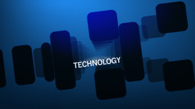 Technology Geometric Text (Data Systems) video