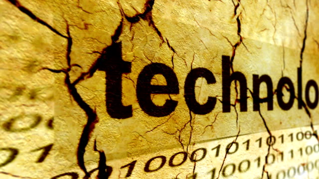 Technology grunge concept Technology grunge concept electron micrograph stock videos & royalty-free footage