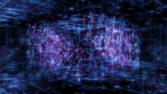 技術インターフェイス コンピューター データ デジタル画面 - スーパーコンピューター点の映像素材/bロール