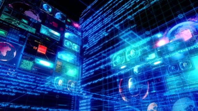 Teknoloji arabirimi bilgisayar veri dijital ekran video