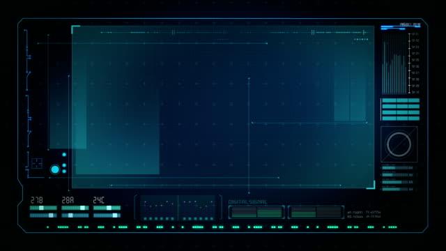 technologia interfejs ekranu komputera danych, graficzny interfejs użytkownika. - szpieg filmów i materiałów b-roll