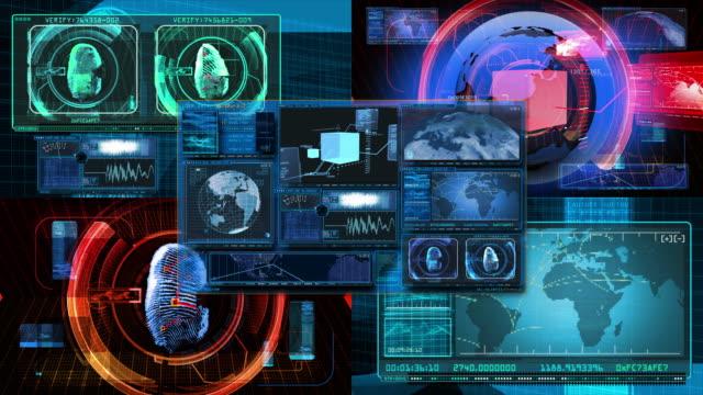 Technology Interface Computer Data Screen GUI 4K video