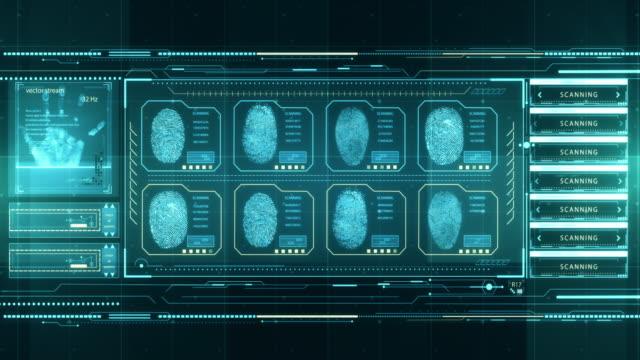 technology interface computer data screen gui - идентификация личности стоковые видео и кадры b-roll