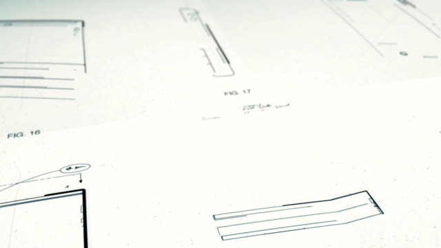 vídeos y material grabado en eventos de stock de technology patents drawing - invento