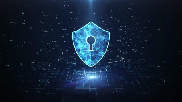 technology security concept. - безопасность сети стоковые видео и кадры b-roll