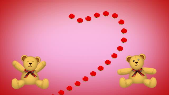 テディ壁紙 pt.1 - バレンタイン チョコ点の映像素材/bロール