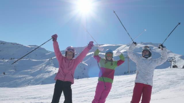 WS 4K: Teen Girls Enjoy while Skiing video