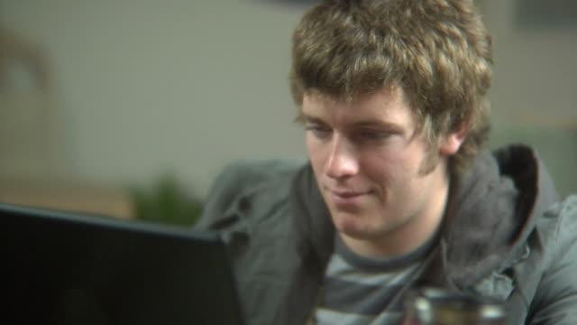 Teen on computer video