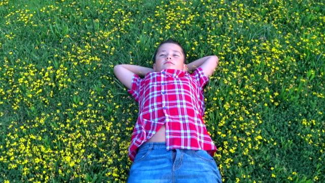 tonårspojke handpåläggning gräsmatta - single pampas grass bildbanksvideor och videomaterial från bakom kulisserna